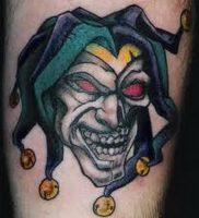 фото тату клоун от 14.01.2018 №013 — Clown tattoo — tattoo-photo.ru