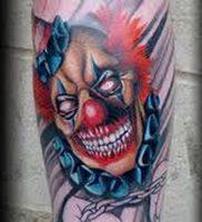 фото тату клоун от 14.01.2018 №014 — Clown tattoo — tattoo-photo.ru
