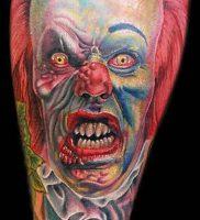 фото тату клоун от 14.01.2018 №017 — Clown tattoo — tattoo-photo.ru