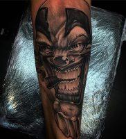 фото тату клоун от 14.01.2018 №019 — Clown tattoo — tattoo-photo.ru