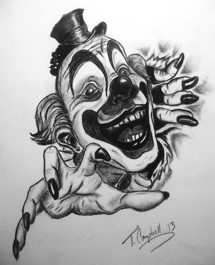 злые клоуны картинки эскизы приор