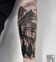 фото тату лес от 14.01.2018 №003 — forest tattoo — tattoo-photo.ru