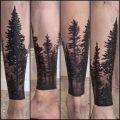 фото тату лес от 14.01.2018 №061 - forest tattoo - tattoo-photo.ru