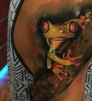 фото тату лягушка от 08.01.2018 №116 — tattoo frog — tattoo-photo.ru