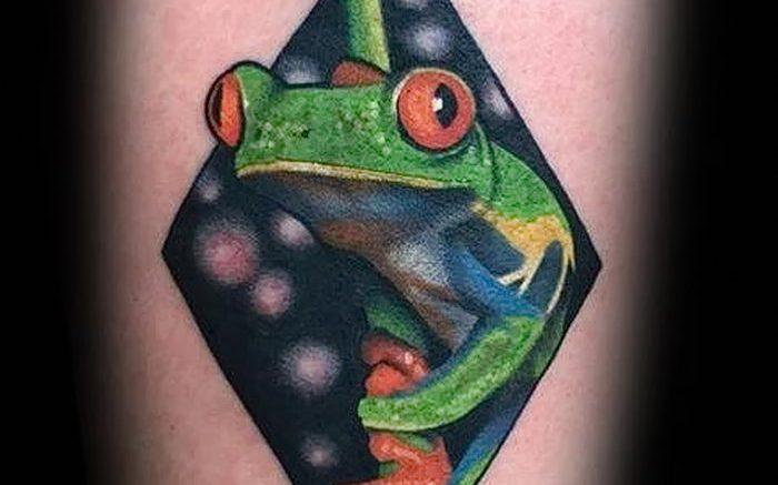 фото тату лягушка от 08.01.2018 №118 - tattoo frog - tattoo-photo.ru