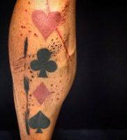 фото тату масть карт пики от 19.02.2018 №002 — tattoo suit cards peaks — tattoo-photo.ru