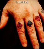 фото тату масть карт пики от 19.02.2018 №005 — tattoo suit cards peaks — tattoo-photo.ru