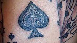 фото тату масть карт пики от 19.02.2018 №042 - tattoo suit cards peaks - tattoo-photo.ru
