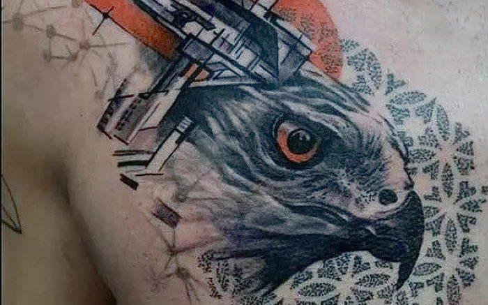 фото тату ястреб от 27.01.2018 №055 - tattoo hawk - tattoo-photo.ru