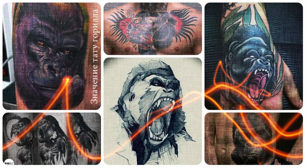 Значение тату горилла - фото примеры интересных готовых рисунков татуировки