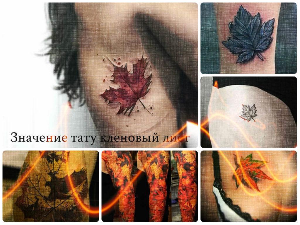 Значение тату кленовый лист - коллекция фото примеров оригинальных рисунков татуировки