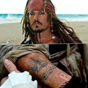 фото Тату Джонни Деппа от 15.04.2018 №004 - Tattoo Johnny Depp - tattoo-photo.ru