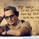 фото Тату Джонни Деппа от 15.04.2018 №033 - Tattoo Johnny Depp - tattoo-photo.ru