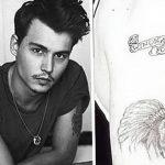 фото Тату Джонни Деппа от 15.04.2018 №058 - Tattoo Johnny Depp - tattoo-photo.ru