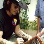 фото Тату Джонни Деппа от 15.04.2018 №064 - Tattoo Johnny Depp - tattoo-photo.ru