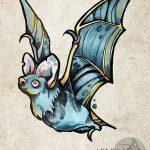 фото Эскизы тату летучая мышь от 11.04.2018 №006 - Sketches bat tattoo - tattoo-photo.ru