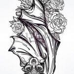 фото Эскизы тату летучая мышь от 11.04.2018 №007 - Sketches bat tattoo - tattoo-photo.ru