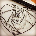 фото Эскизы тату летучая мышь от 11.04.2018 №014 - Sketches bat tattoo - tattoo-photo.ru