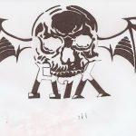 фото Эскизы тату летучая мышь от 11.04.2018 №034 - Sketches bat tattoo - tattoo-photo.ru