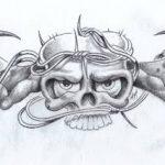 фото Эскизы тату летучая мышь от 11.04.2018 №038 - Sketches bat tattoo - tattoo-photo.ru