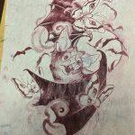 фото Эскизы тату летучая мышь от 11.04.2018 №040 - Sketches bat tattoo - tattoo-photo.ru