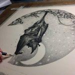 фото Эскизы тату летучая мышь от 11.04.2018 №045 - Sketches bat tattoo - tattoo-photo.ru