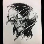 фото Эскизы тату летучая мышь от 11.04.2018 №075 - Sketches bat tattoo - tattoo-photo.ru