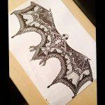 фото Эскизы тату летучая мышь от 11.04.2018 №090 - Sketches bat tattoo - tattoo-photo.ru