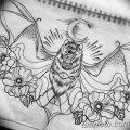 фото Эскизы тату летучая мышь от 11.04.2018 №094 - Sketches bat tattoo - tattoo-photo.ru