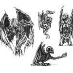 фото Эскизы тату летучая мышь от 11.04.2018 №095 - Sketches bat tattoo - tattoo-photo.ru