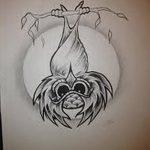 фото Эскизы тату летучая мышь от 11.04.2018 №110 - Sketches bat tattoo - tattoo-photo.ru