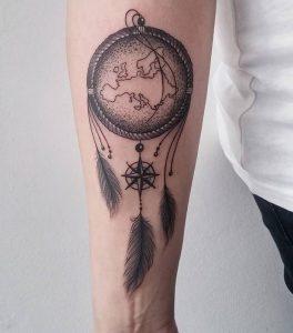 фото тату Ловец снов от 15.04.2018 №022 - tattoo Dream catcher - tattoo-photo.ru