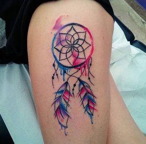 фото тату Ловец снов от 15.04.2018 №050 - tattoo Dream catcher - tattoo-photo.ru