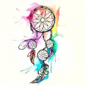 фото тату Ловец снов от 15.04.2018 №056 - tattoo Dream catcher - tattoo-photo.ru