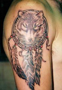 фото тату Ловец снов от 15.04.2018 №057 - tattoo Dream catcher - tattoo-photo.ru