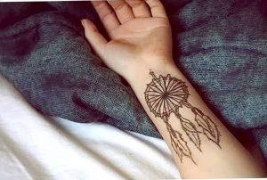 фото тату Ловец снов от 15.04.2018 №064 - tattoo Dream catcher - tattoo-photo.ru