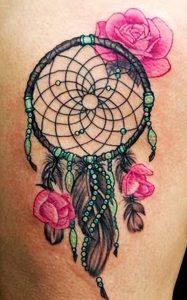 фото тату Ловец снов от 15.04.2018 №067 - tattoo Dream catcher - tattoo-photo.ru