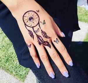 фото тату Ловец снов от 15.04.2018 №069 - tattoo Dream catcher - tattoo-photo.ru