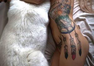 фото тату Ловец снов от 15.04.2018 №071 - tattoo Dream catcher - tattoo-photo.ru