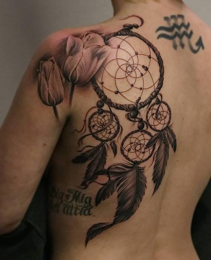 его помощью фото татуировок ловец снов переработала топ своему