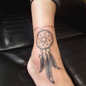 фото тату Ловец снов от 15.04.2018 №091 - tattoo Dream catcher - tattoo-photo.ru