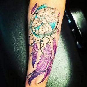 фото тату Ловец снов от 15.04.2018 №097 - tattoo Dream catcher - tattoo-photo.ru