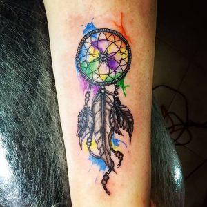 фото тату Ловец снов от 15.04.2018 №110 - tattoo Dream catcher - tattoo-photo.ru