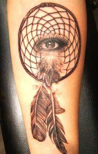 фото тату Ловец снов от 15.04.2018 №111 - tattoo Dream catcher - tattoo-photo.ru