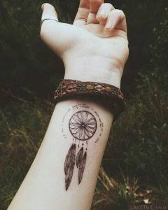 фото тату Ловец снов от 15.04.2018 №114 - tattoo Dream catcher - tattoo-photo.ru