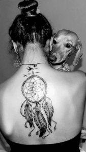фото тату Ловец снов от 15.04.2018 №137 - tattoo Dream catcher - tattoo-photo.ru