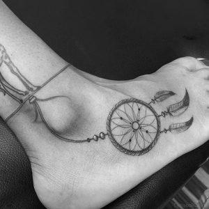 фото тату Ловец снов от 15.04.2018 №141 - tattoo Dream catcher - tattoo-photo.ru