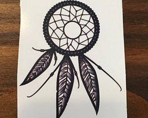 фото тату Ловец снов от 15.04.2018 №150 - tattoo Dream catcher - tattoo-photo.ru