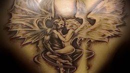фото тату ангел и демон от 11.04.2018 №061 - tattoo angel and demon - tattoo-photo.ru