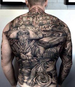 фото тату в стиле чикано от 08.04.2018 №001 - Chicano style tattoo - tattoo-photo.ru